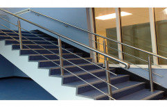 Stainless Steel Staircase Railing by S. R. Ceiling Solution & Interiors