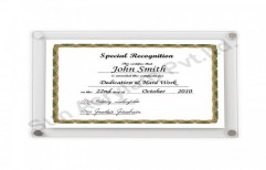 Acrylic Certificate Display by Sun Acrylam Private Limited