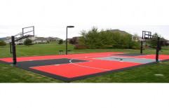 Basketball Court Mat by Sajj Decor