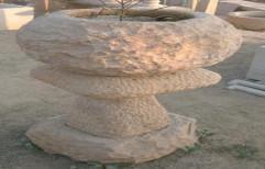 Designer Stone Flower Pot by Priyanka Construction