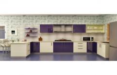 Laminated Modular Kitchen by Four Corner's Interiors
