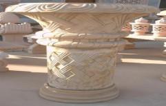 Large Stone Flower Pot by Priyanka Construction