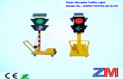 Solar Movable Traffic Signal Light by Multi Marketing Services