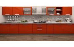Straight Modular Kitchen by Jayam Wood Works