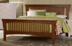 Teak Wood Double Bed by Philips Interiors International