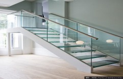 Glass Staircase by Varna Glass & Plywood Trading Private Limited