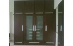 Glass Wooden Wardrobe by Shree Nathji Steel Arts
