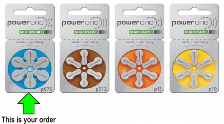 Hearing Aid Battery for all types of hearing aids at reasonable prices Powerone Signia by National Surgical Company