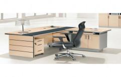 L Shaped Executive Table by Raaghavi Associates