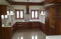 Teak Wood Modular Kitchen by Philips Interiors International