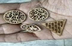 Wooden Button Laser Cut Art by Sun Acrylam Private Limited