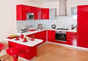 Acrylic U Shaped Modular Kitchen by Premium Kitchen