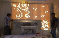 Backlit Corian Wall Panel by Designo Crafts & Creations