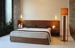 Double Wooden Bed by Philips Interiors International