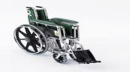 Folding Wheelchair by College Street Blue Print