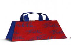 Jute Bag( Red& Blue) by Sajj Decor