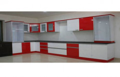 L Shaped Modular Kitchen by Crecent Modular Furniture