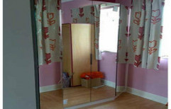 Mirror Wooden Wardrobe by S.S Decors