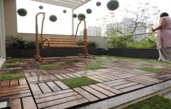 Outdoor Wooden Deck by Sajj Decor