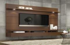 Wooden TV Unit by Meenacshi Interiors