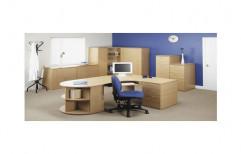 Plywood Office Table by Raaghavi Associates