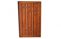 Finished Teak Wood Solid Wooden Panel Door, For Home And Office