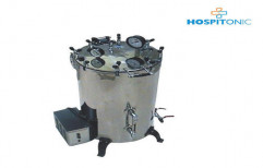 Vertical Cylindrical Type Steam Sterilizer Pressure Type by Ambica Surgicare