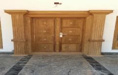 230 Cm Decorative Main Door ( Teak Wood)