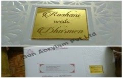 Golden Nameplates by Sun Acrylam Private Limited