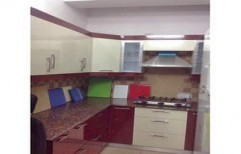 L Shape Modular Kitchen by Balaji Traders