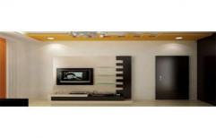 Modern TV Unit by Four Corner's Interiors