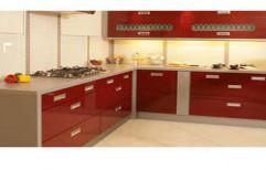 PVC Modular Kitchen by Uniq 3D Interiors