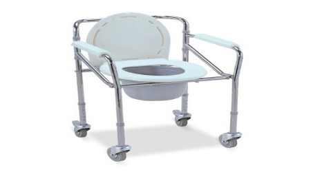 SS Commode With wheel by Medi-Surge Point