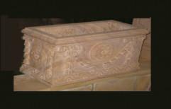 Carved Sandstone Planter by Priyanka Construction