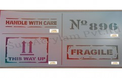 Handle With Care Stencil by Sun Acrylam Private Limited