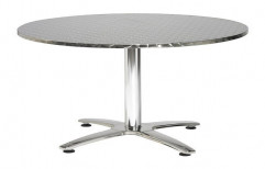 Round Steel Table by Sanipure Water Systems