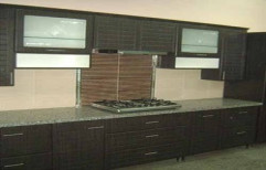 Straight Line BWR Plywood Modular Kitchen by Meenacshi Interiors