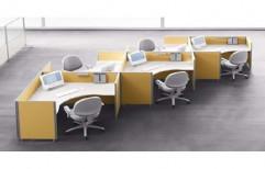 Wooden Office Workstation by Raaghavi Associates