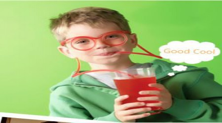 1PCS Fun Eyeglasses Straw Crazy Design DIY Silly Transparent Funny Gift for Kids by Akhilesh Enterprises