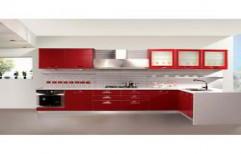 L Shaped Modular Kitchen by Sunrise Kitchen Decor