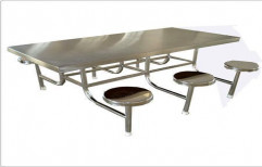 Stainless Steel Canteen Table by Srinivasa