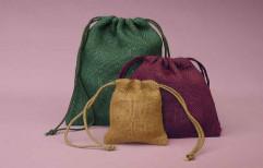 Colored Jute Pouch Bag by Sajj Decor