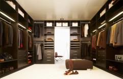 Walk In Wooden Wardrobe by Raaghavi Associates