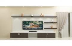 Decorative TV Unit by Four Corner's Interiors