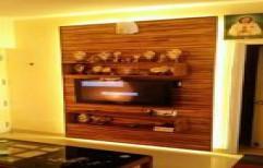 Designer Teak wood TV wall Panel by Philips Interiors International