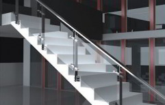 SS Glass Stair Railing by Sunrise Kitchen Decor
