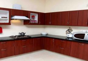 L Shape Modular Kitchen by Fusion Interiors