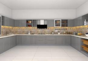 U Shape Modular kitchen Designs