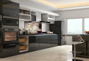 Acrylic Modular Kitchen Designs by Balaji Enterprises