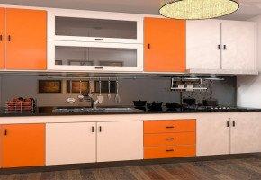 Straight Modular Kitchen by Virasat Furniture